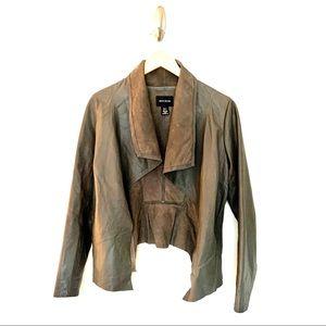 DKNY Lambskin Leather Waterfall Jacket